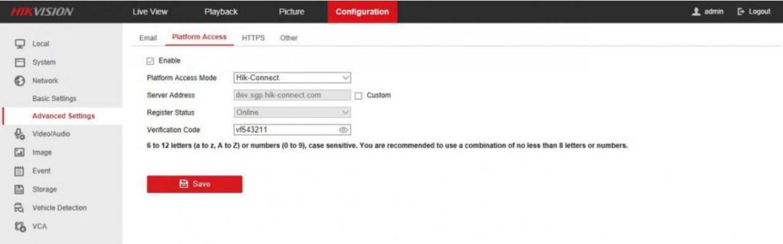 1.Hướng dẫn tìm mã xác thực Verification Code Hik-Connect